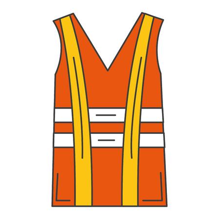Chaqueta de construcción aislado icono de diseño de ilustración vectorial Foto de archivo - 84066024