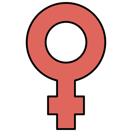 A female gender symbol icon vector illustration design. Illustration