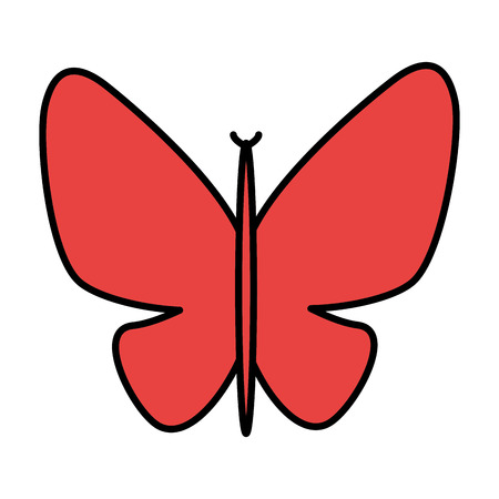 A cute butterfly isolated icon vector illustration design.