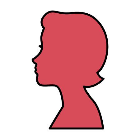 A head woman profile icon vector illustration design. Ilustrace