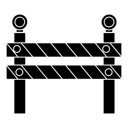 Clôture de la construction signal icône Banque d'images - 84065392
