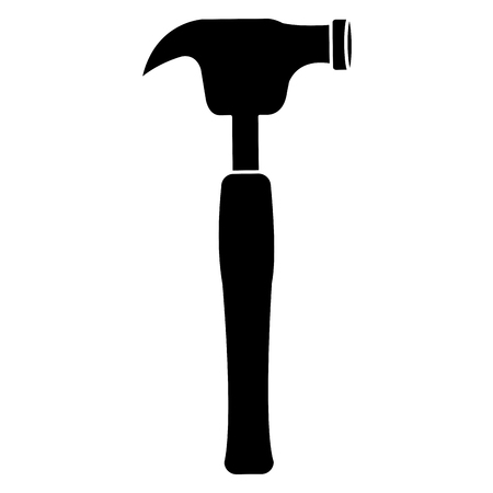 steel industry: Hammer tool isolated icon Illustration