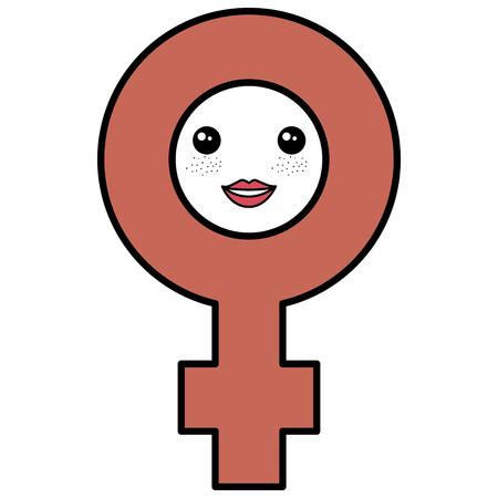female gender symbol character vector illustration design