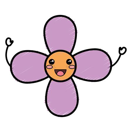 Cute happy flower.