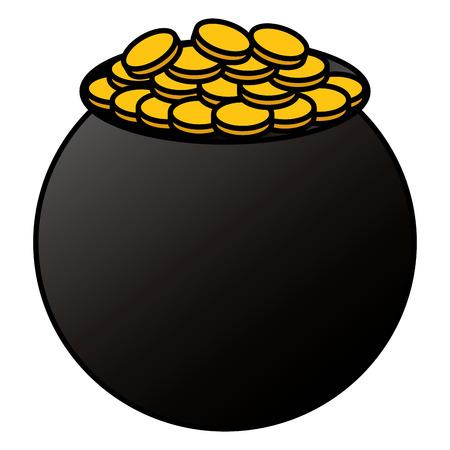 saint patrick cauldron icon vector illustration design