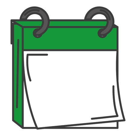 Een kalender herinnering geïsoleerd pictogram vector illustratie ontwerp. Stock Illustratie