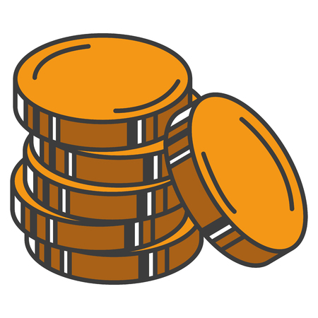 A coin money isolated icon vector illustration design. Ilustração