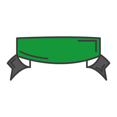 A ribbon frame isolated icon vector illustration design.