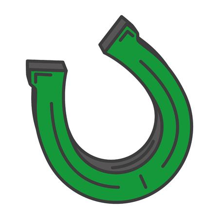 A horseshoe saint patrick icon vector illustration design.