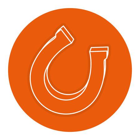 horseshoe saint patrick icon vector illustration design