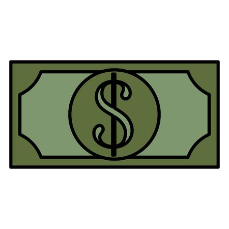 A bill dollar money icon vector illustration design illustration. Çizim