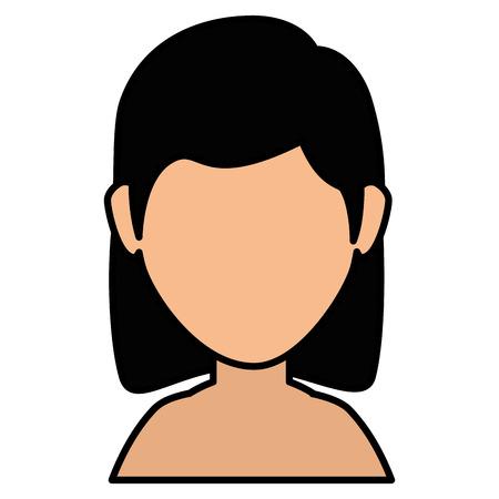 Beautiful woman shirtless avatar character vector illustration design Illustration
