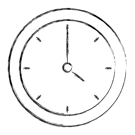 numeric: time clock isolated icon vector illustration design Illustration