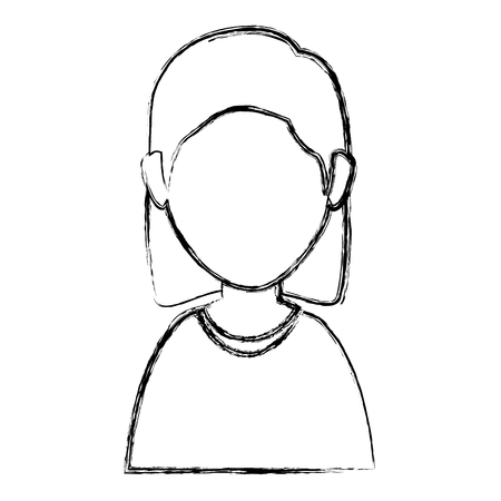hair style: Beautiful woman avatar character vector illustration design Illustration