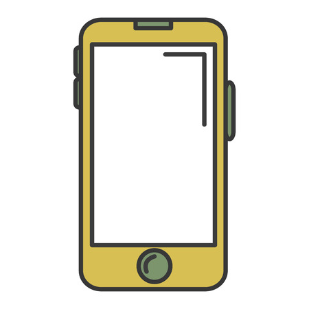 touch screen phone: A smartphone device isolated icon vector illustration design. Illustration