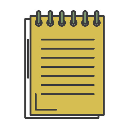 A notebook school isolated icon vector illustration design. Illustration