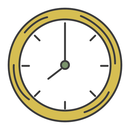 A time clock isolated icon vector illustration design.