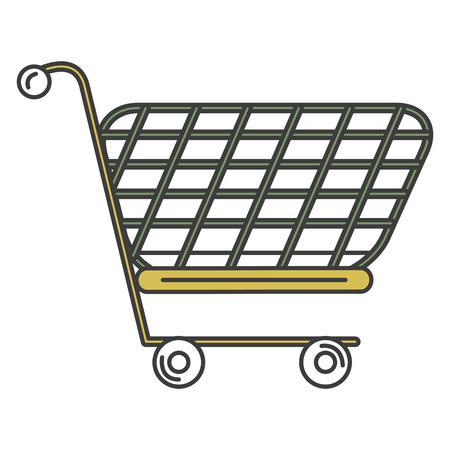 Ein Einkaufswagen isoliert Symbol Vektor-Illustration , Design , Standard-Bild - 84067003
