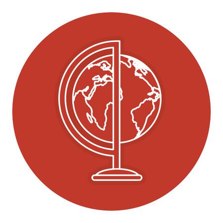 世界地球教育アイコン ベクトル イラスト デザイン  イラスト・ベクター素材