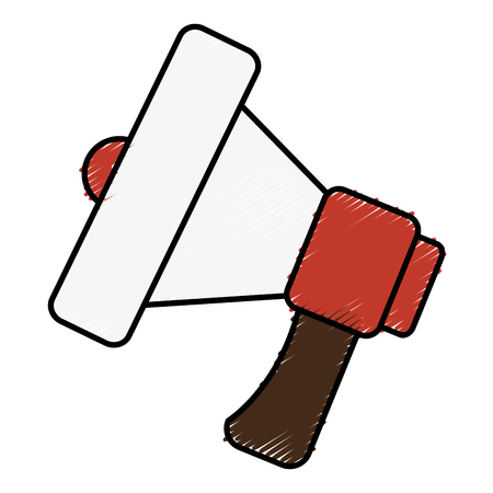 Megaphone sound isolated icon vector illustration design Ilustração
