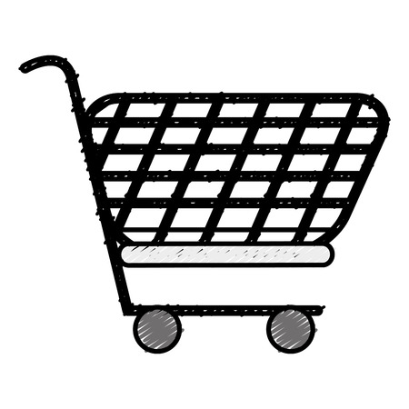 Warenkorb isoliert Symbol Vektor-Illustration , Design , Standard-Bild - 84066501