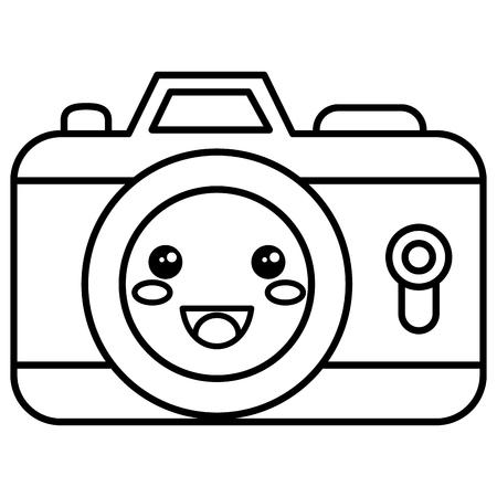 camera photographic kawaii character vector illustration design Stok Fotoğraf - 84068049