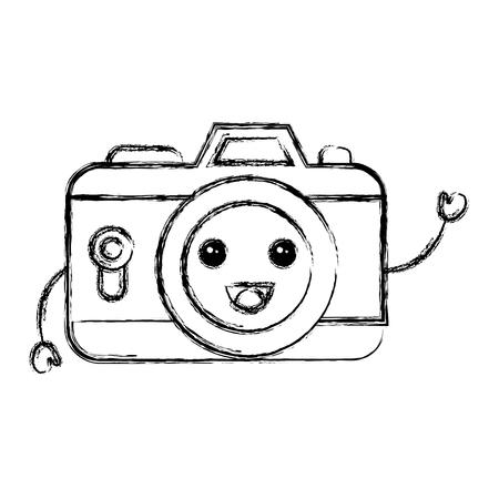 camera photographic character vector illustration design