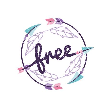 free spirit cartoon background icon vector illustration design graphic