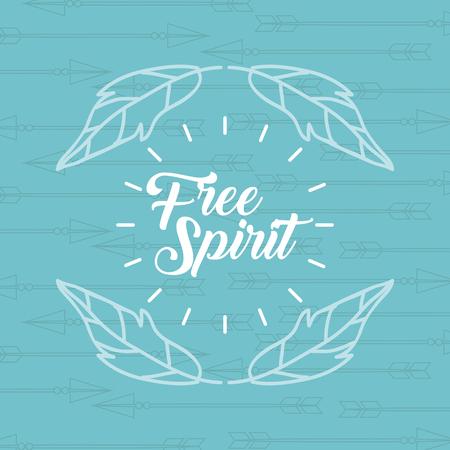 Libre espíritu dibujos animados escena icono ilustración vectorial diseño gráfico Foto de archivo - 84080455