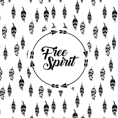 icons set free spirit cartoon vector illustration design graphic