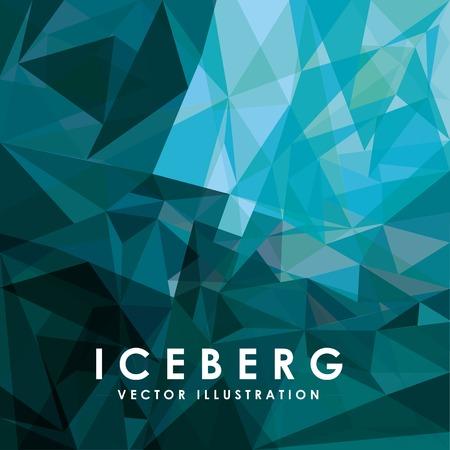 iceberg glacier design, vector illustration graphic Stock fotó - 84195916