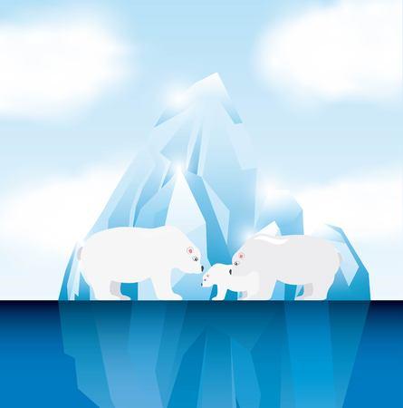 氷山氷河デザイン、ベクトル イラストレーション グラフィック