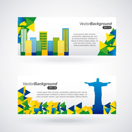 brazil stamp design, vector illustration graphic