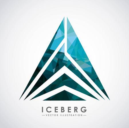 ijsberg gletsjer ontwerp, vector illustratie grafisch