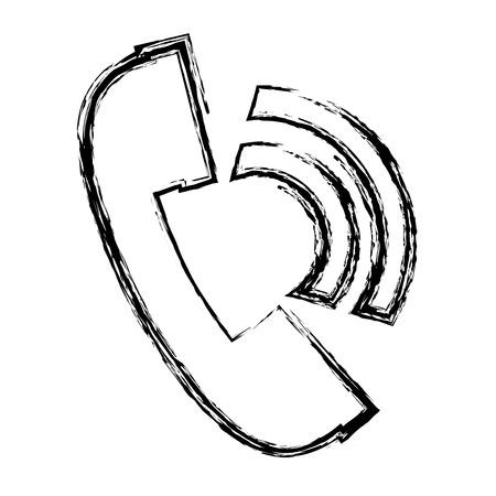 hotline: telephone service isolated icon vector illustration design Illustration