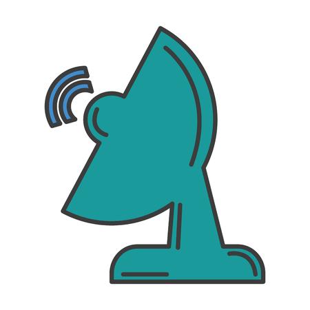 antenne de communication icône isolée conception d'illustration vectorielle Vecteurs