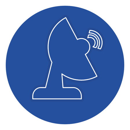 communication antena isolated icon vector illustration design