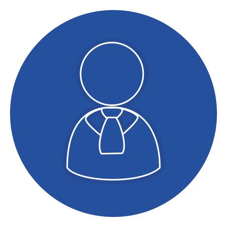 businessman avatar isolated icon vector illustration design