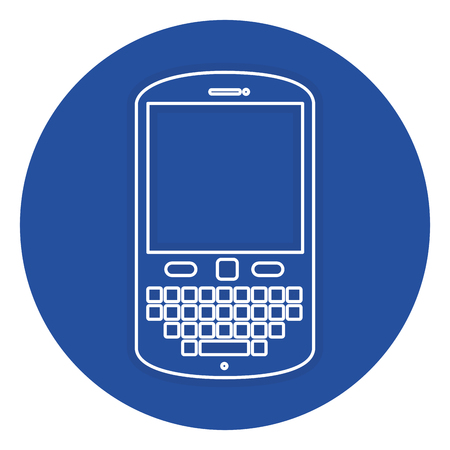 touch screen phone: cellphone device isolated icon vector illustration design