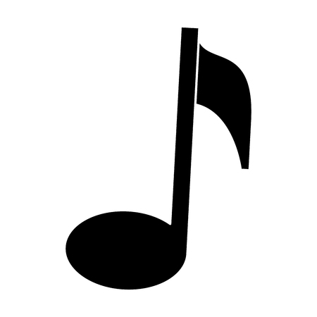 music note isolated icon vector illustration design Ilustrace