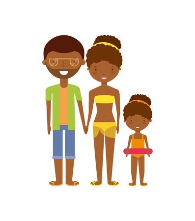 family on summer vacation design, vector illustration eps10 graphic