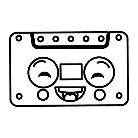 old cassette kawaii character vector illustration design 向量圖像