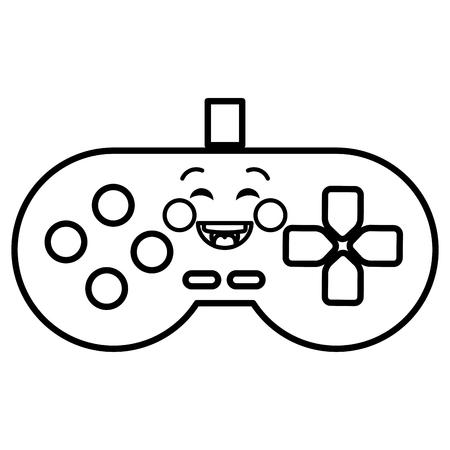 video game control kawaii character vector illustration design