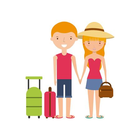 Young people on summer vacation design, vector illustration eps10 graphic