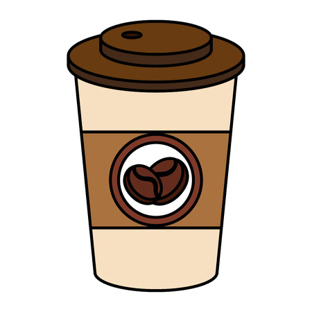 tea hot drink: coffee in plastic cup icon vector illustration design