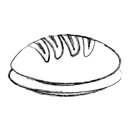 delicious bread isolated icon vector illustration design