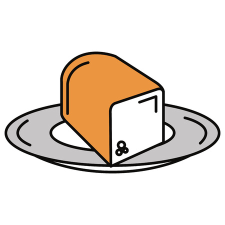 loaf: delicious toast bread icon vector illustration design