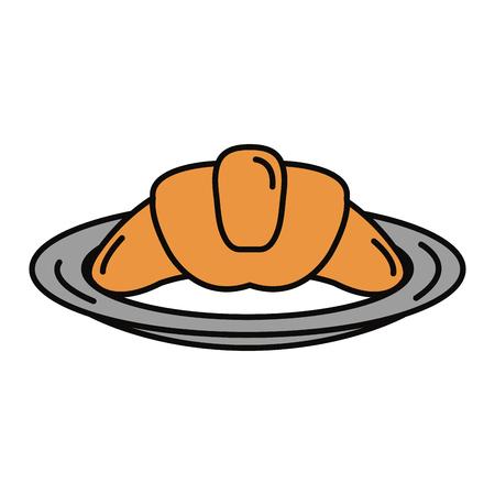delicious croissant bread icon vector illustration design