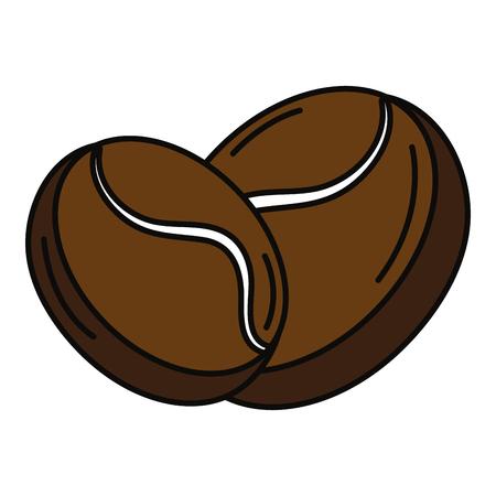 koffiebonen geïsoleerd pictogram vector illustratieontwerp Stock Illustratie