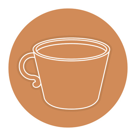 tea hot drink: coffee cup isolated icon vector illustration design Illustration